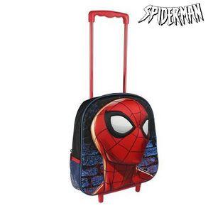 CARTABLE Cartable en polyester 3D avec roulettes Spiderman