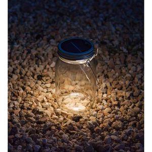 LAMPE DE JARDIN  Lampe solaire décorative en bocal à conserves avec