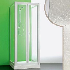 Cabine douche 3 c t s 80x100x80 cm en acrylique mod saturno avec ouverture pliante achat - Cabine de douche 3 cotes vitres ...