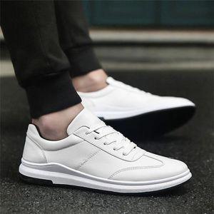 Bottes pour Hommeblanc 6.5 Hommes d'affaires Chaussures en cuir Casual Plus Chaussures Taille Classique Noir Mince Cha_37687 nixZC7hf4