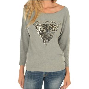 PULL Pull logo doux & fin W72R84 -GUESS JEANS Gris Femm