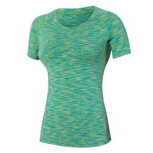 T-SHIRT DE COMPRESSION T-shirt de Sport Femme Compression Manches Courtes