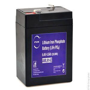LAMPE - LANTERNE Batterie lithium fer phosphate UN38.3 6V 4.5Ah T1