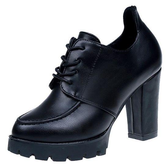 Mode femmes fille plat pointu haut bas Slip@Noir Noir Noir - Achat / Vente slip-on