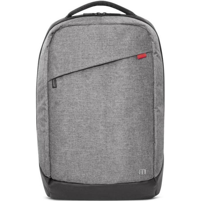 MOBILIS Sac à dos pour ordinateur portable - Trendy Backpack - 14-16'' - Gris