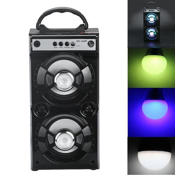 Extérieur Sans Fil Bluetooth Haut-parleur Portable Super Bass Avec Radio Usb - Tf Aux Fm @zo3022
