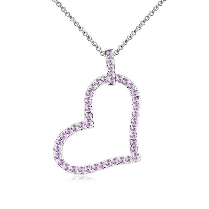 Cristal Swarovski Coeur - amour de - valentine collier pendentif de femmes. Tous les jours - Tenues de soirée Mode Bijoux P0OQ0