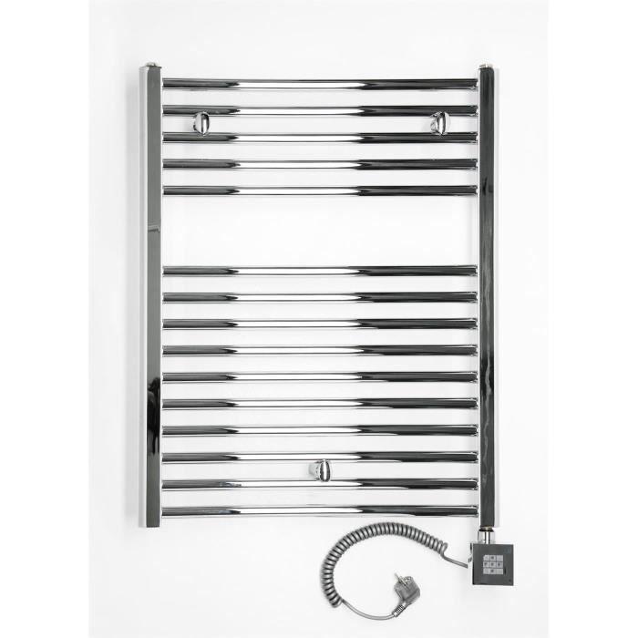 chauffage lectrique droit pour salle de bain chrom 775 x 600 mm achat vente s che. Black Bedroom Furniture Sets. Home Design Ideas