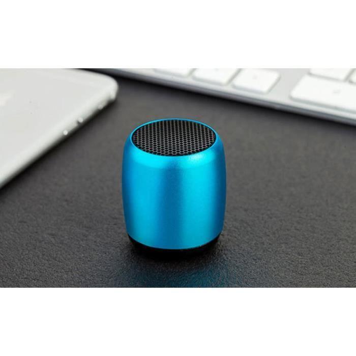 Blue Super Mini Haut-parleur Sans Fil Bluetooth Portable Petit Caisson De Basse Poche