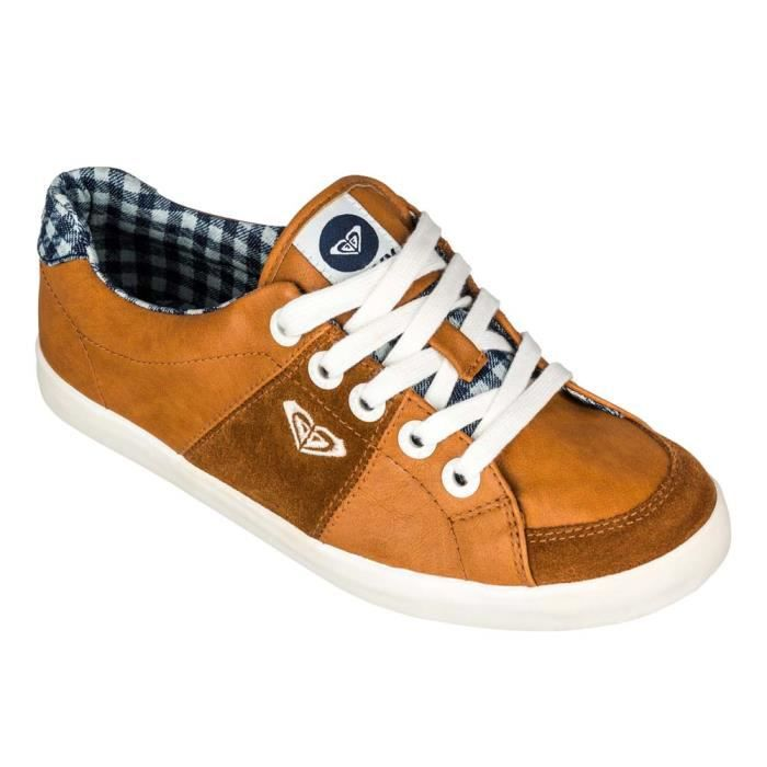Roxy Sneaky Marron 3 Chaussures Vente Mode Achat wkOPn0