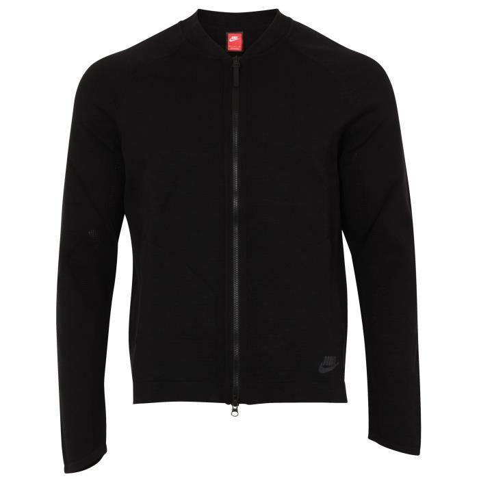 Nike Sportswear Tech Knit Homme Bomber Veste Noir Noir Achat
