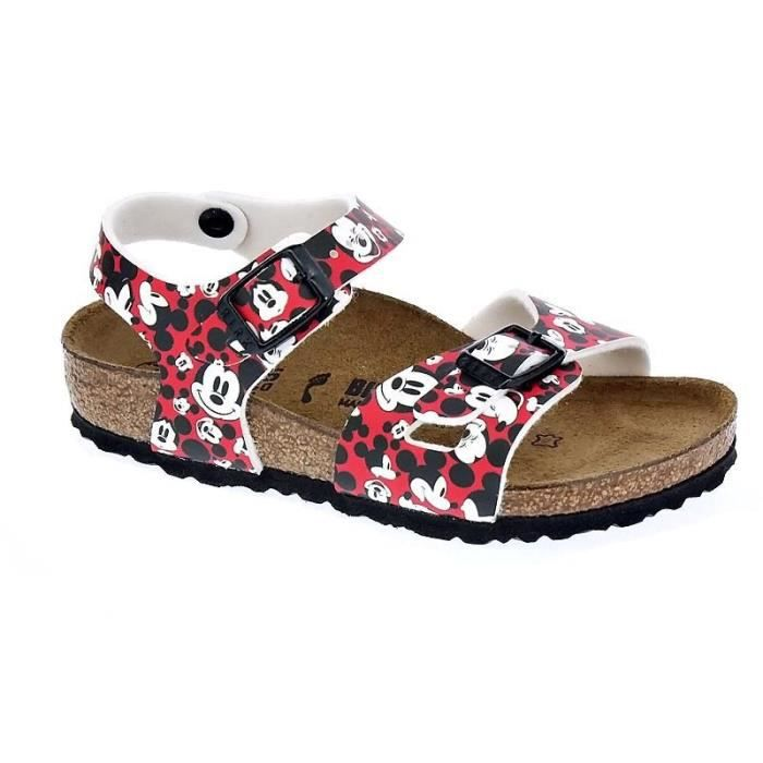Chaussures Birkenstock FilleSandales modèle Rio Funny Mickey