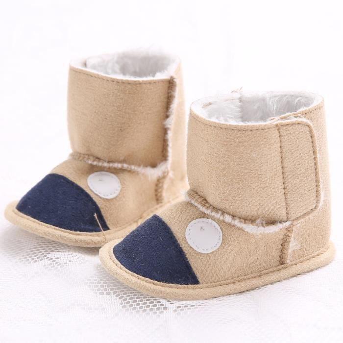 Bébé Hiver Loisirs Garde au chaud Cartoon Fond mou Chaussures de bébé gDnek7 0fc91b99b3a3