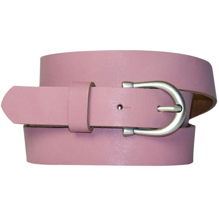 FRONHOFER Fine ceinture pour femme de 2,5 cm avec une boucle en fer à cheval  couleur argent vieilli, ceinture en cuir bon marché, 84a8a3bf3e6