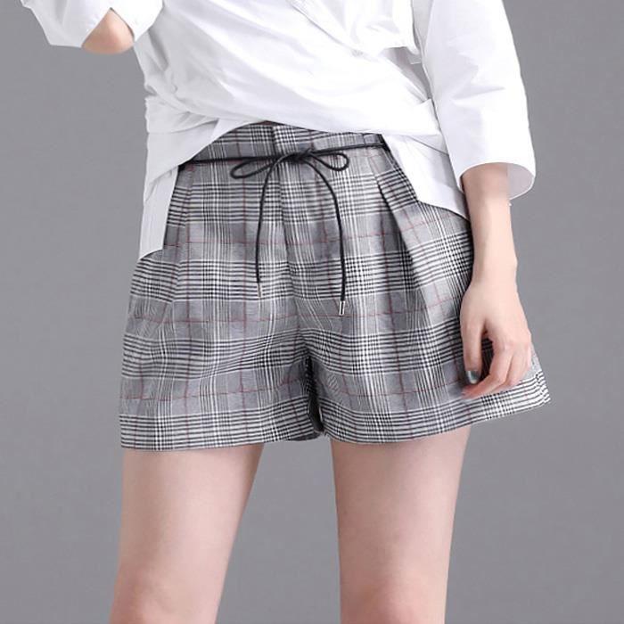f91862a85 Shorts de femme - short femme été ABDG-FZ4036 Gris Gris - Achat ...