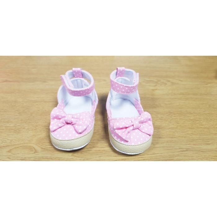 fcbd530fafa28 Chaussures Bébé Fille - Pré marche (0-6 mois) Rose Rose - Achat ...