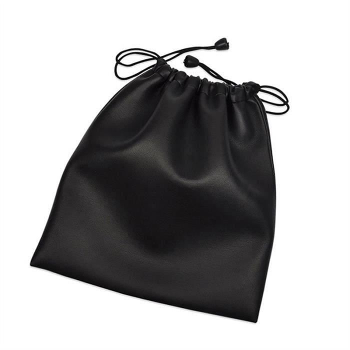 Casque Sac De Rangement Grande Capacité Bandeau Sacs En Cuir Artificiel Étanche Protection Pouch (noir) - Htofnx-a0068