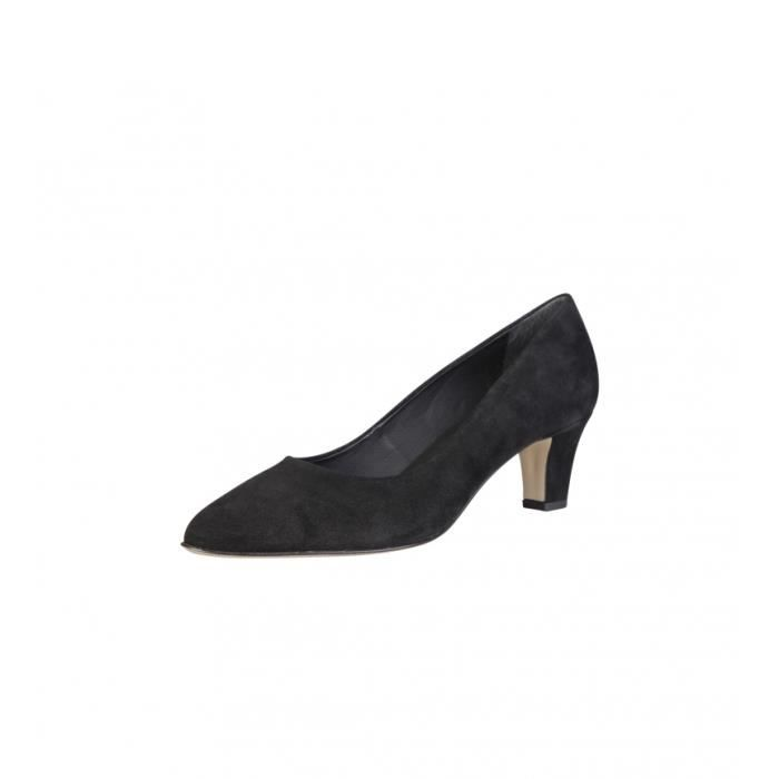 Pierre Cardin - 5238101 chaussures en cuir noir talon -Hauteur: 5,5cm