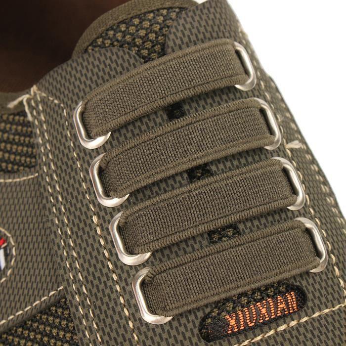 AEQUEEN Mocassins Hommes en Coton Chaussure Décontractées