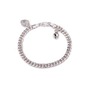 BRACELET - GOURMETTE Bracelet bébé plaqué or blanc 18 carats