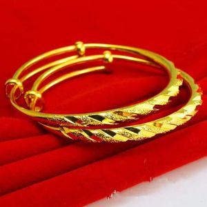 BRACELET - GOURMETTE 2 pièces Bracelet bébé Plaqué or 24 carats Bracele