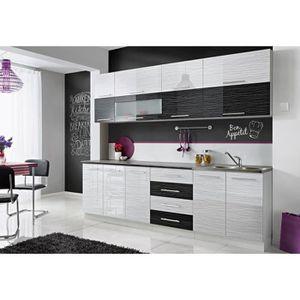 CUISINE COMPLÈTE COVE N | Cuisine Complète L 260 cm | 8pcs  + Plan