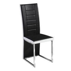 Chaise Kuantan Noir Et Blanc Par 6