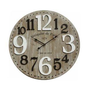 2d2fc8419c3cba HORLOGE - PENDULE Horloge murale Paris - Cadrant MDF - Chiffre volum. ‹›