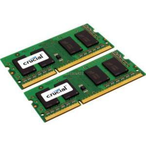 MÉMOIRE RAM Crucial 2x 2GB, DDR3, 1600MHz, 204pin, 4 Go, 2 x 2