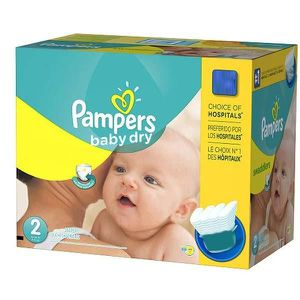 COUCHE 138 Couches Pampers Baby Dry taille 2
