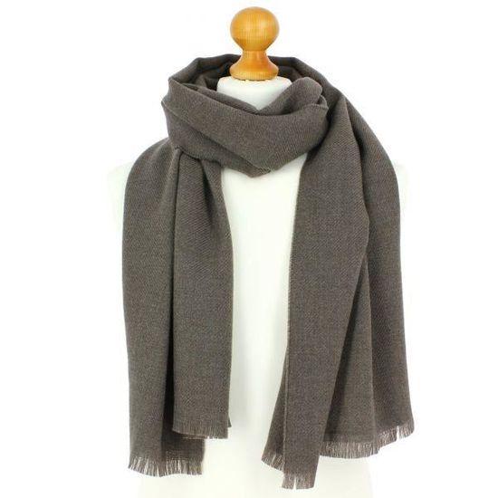 Echarpe en laine d Australie, 50x190cm, gris taupe Gris - Achat   Vente  echarpe - foulard 3662395170637 - Soldes  dès le 9 janvier ! Cdiscount 9b088ae8d26