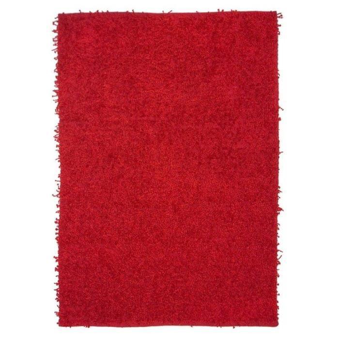 120x170 cm - M - Original - Avec un superbe effet de matière - Doux - RougeTAPIS - DESSOUS DE TAPIS