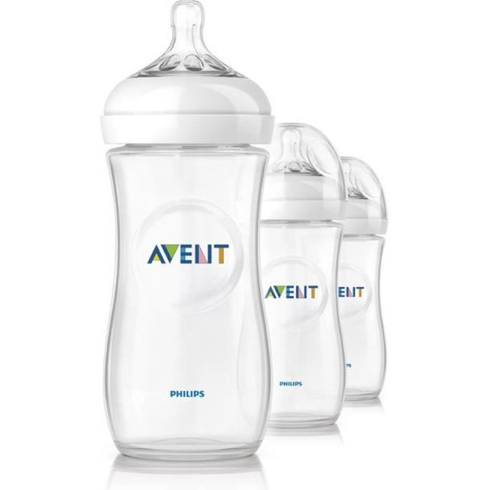 AVENT Lot de 3 biberons Natural 330ml SCF696/37