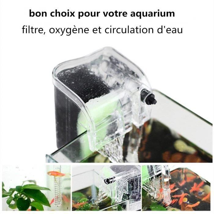 Filtre De Réservoir Pompe À Eau Attendre Système Circulation Purification L'eau Alimentation Externe Aquarium Réserv