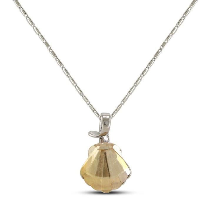 Womens Beautiful Seashell Alloy Pendant With Chain ForEC74H