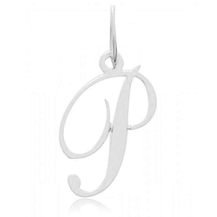 Pendentif or P lettre Bijoux en Vogue