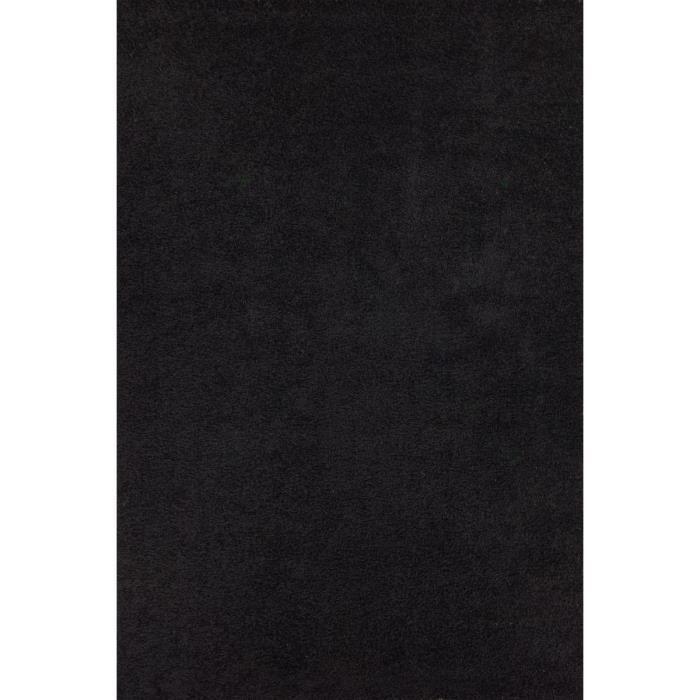 relax tapis de salon shaggy noir 160x230 cm - Tapis Noir
