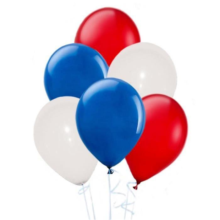 ballons bleu blanc rouge 30 ballons achat vente kit de decoration soldes d s le 27 juin. Black Bedroom Furniture Sets. Home Design Ideas