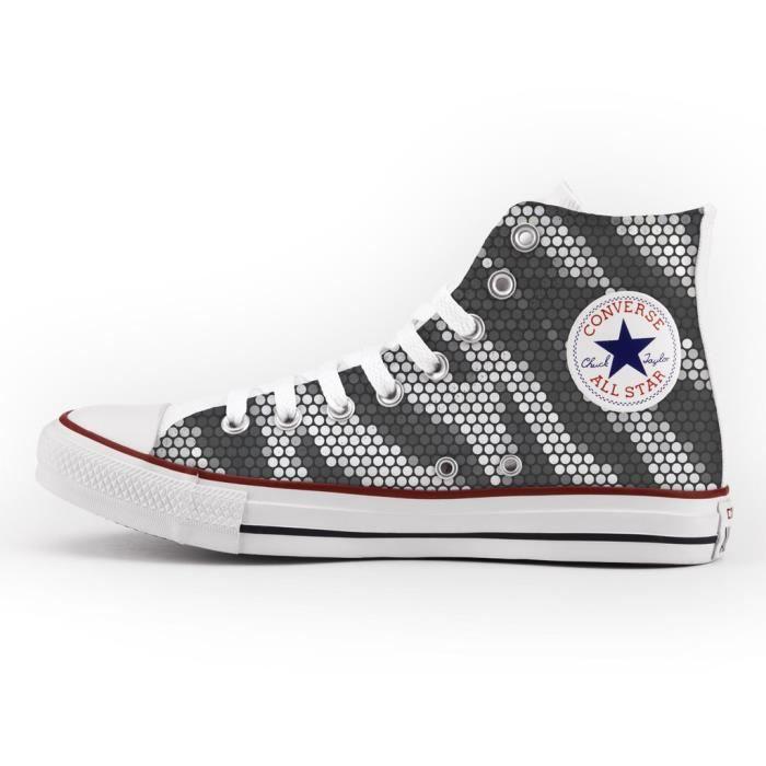 Converse All Star Personnalisé et Imprimés - chaussures à la main - produit Italien - Pixel Zebra uyEA2I2xYH