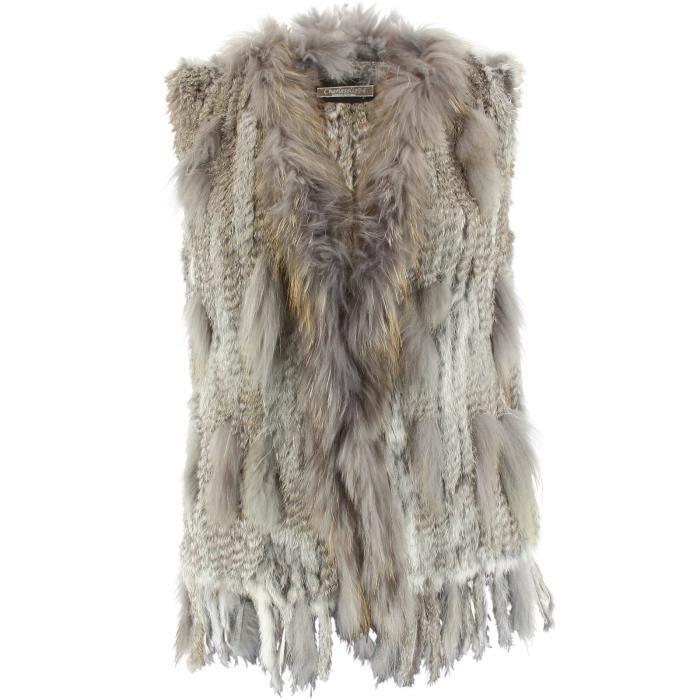 charleselie94 gilet veste sans manche fourrure marmotte. Black Bedroom Furniture Sets. Home Design Ideas