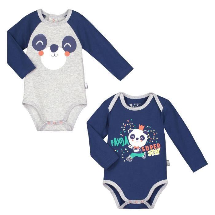 Lot de 2 bodies manches longues bébé garçon Skateparty - Taille - 3 mois  (62 cm) a6b83bf5b12