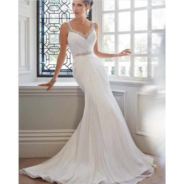 74721c28c6e Robe de mariée sirène en dentelle de plage Tulle sexy dos nu robes de  mariée romantiques faites sur mesure