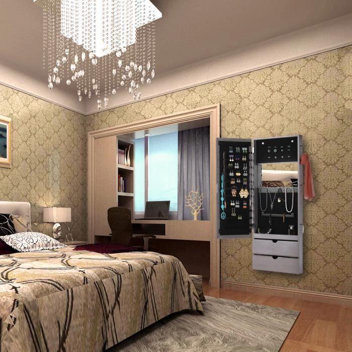 miroir porte bijoux mural achat vente miroir porte bijoux mural pas cher cdiscount. Black Bedroom Furniture Sets. Home Design Ideas