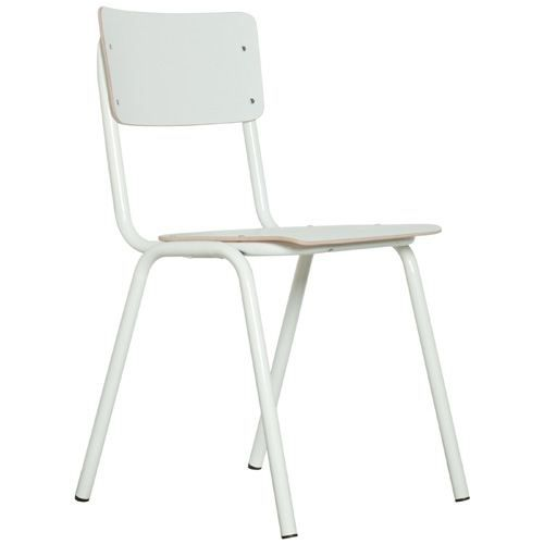 Chaise Back Achat School Hpl Vente To Zuiver Blanche 8nPXwOk0