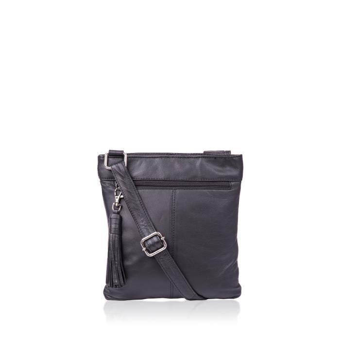 Alexis souple grainé Cross Body Bag en cuir de poche W - glands XXTJV
