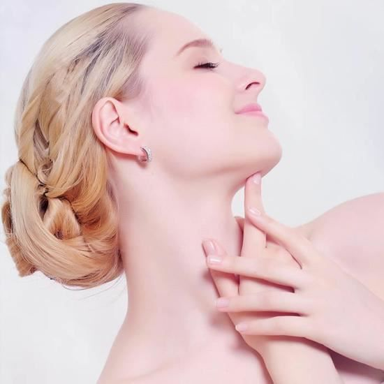 CO Belles boucles doreilles Working-girl en Plaqué Platine et cristal SWAROVSKI de la marque Ecrin Doré