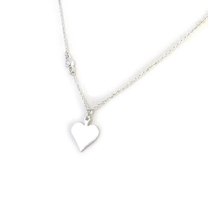 Les Trésors De Lily [N2863] - Collier Argent Jeux de Cartes(rhodié) coeur