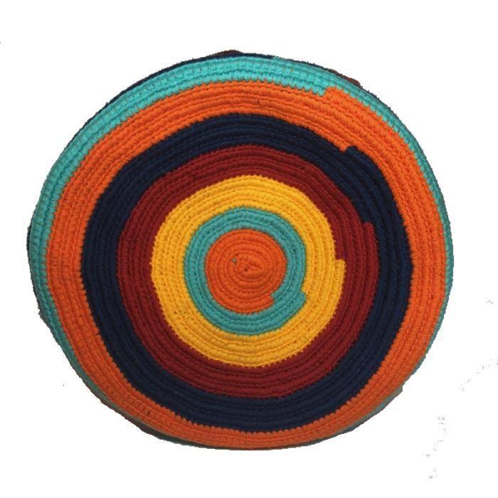 Mochila Wayuu ethnique 100% Sac à bandoulière tissé à la main multicolore I7KE9