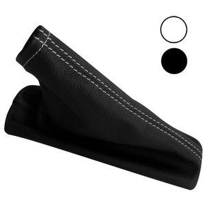 TABLEAU DE BORD AUTO Aerzetix: Soufflet de frein à main noir en CUIR vé