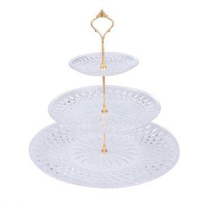 PORTE FRUITS - COUPE Présentoir à gâteau rond à trois niveaux et assiet ed35092e2a0